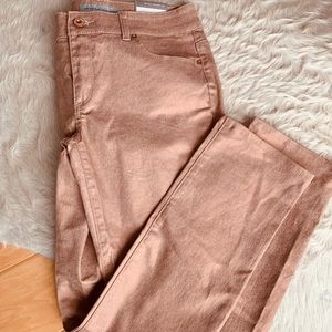 NWT Chicos Rose metallic ultimate fit jeans sz 00